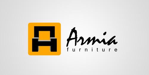 گرافیک و طراحی - لوگومبلمان ارمیا (ساخت حرف A به شکل مبل)!
